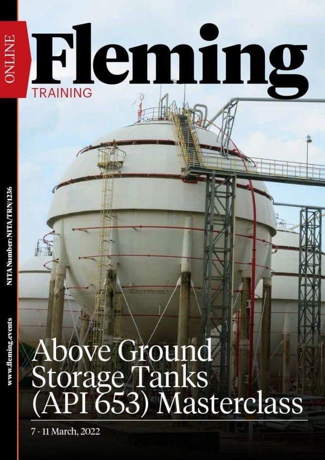 Above Ground Storage Tanks (API 653) Masterclass Training Course | Fleming